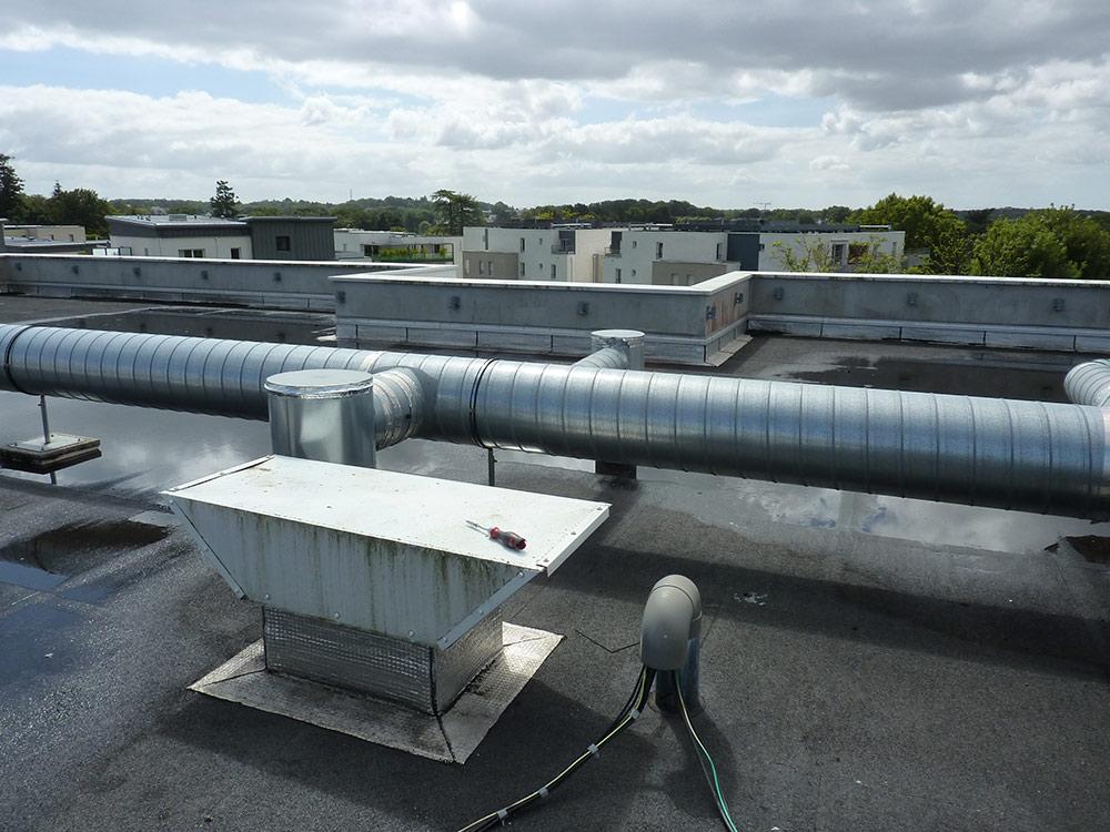 climatisation Pornic ECPR toiture enseigne optique 44